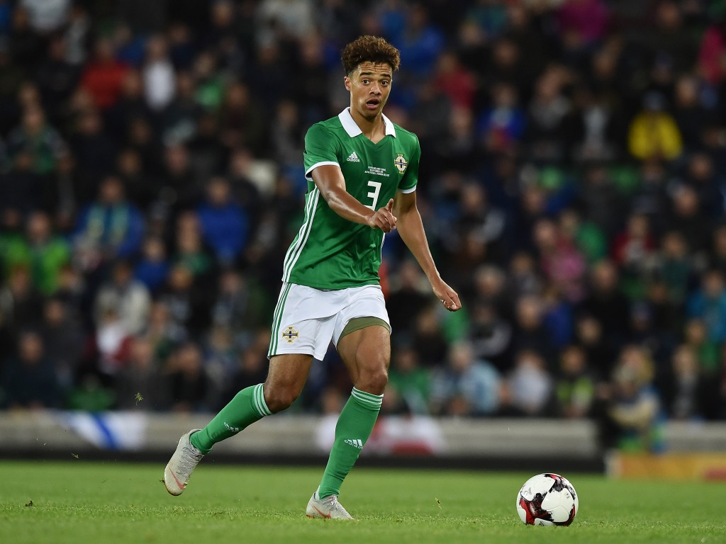 BELFAST, NORTHERN IRELAND - SEPTEMBER 11: Jamal Lewis of Northern Ireland during the international friendly football match between Northern Ireland and Israel at Windsor Park on September 11, 2018 in Belfast, Northern Ireland. (Photo by Charles McQuillan/Getty Images)