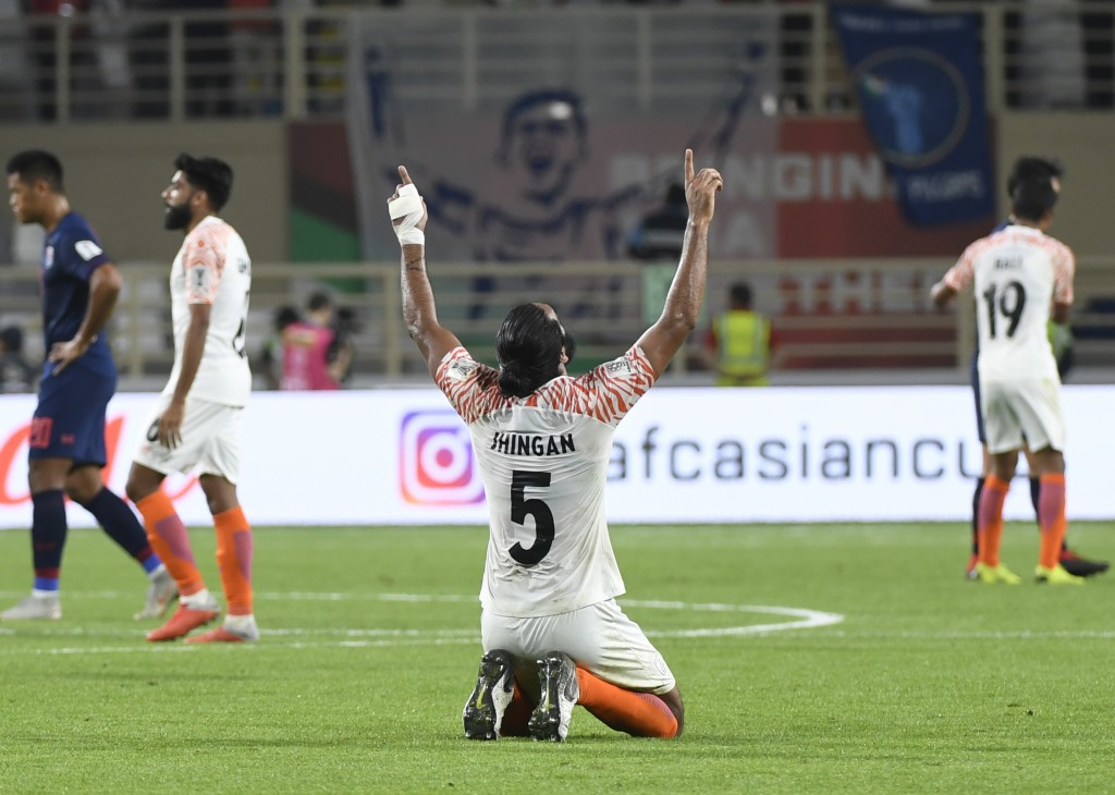 Sandesh Jhingan misses out due to injury. (Photo by Khaled Desouki/AFP/Getty Images)