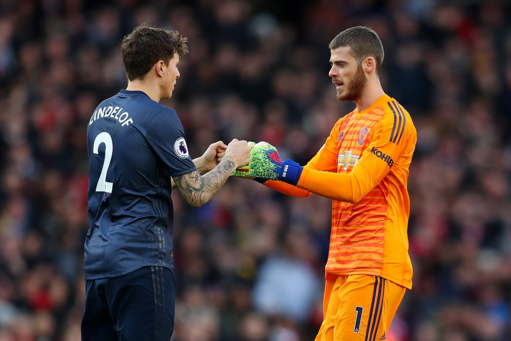 Lindelof and De Gea should return to the team on Sunday (Photo by Catherine Ivill/Getty Images)