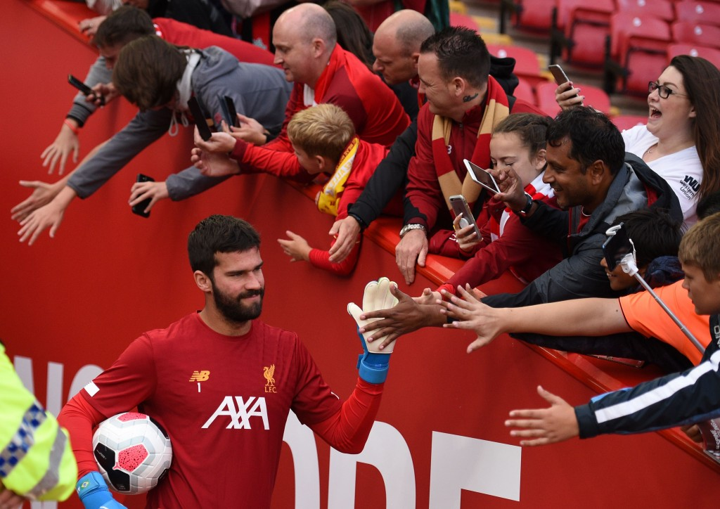 Alisson set to return for Liverpool (Photo by OLI SCARFF/AFP/Getty Images)