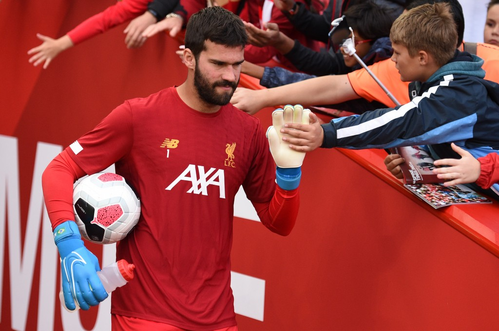 Alisson is in contention to return to the lineup ahead of the visit of Leicester City. (Photo by Oli Scarff/AFP/Getty Images)