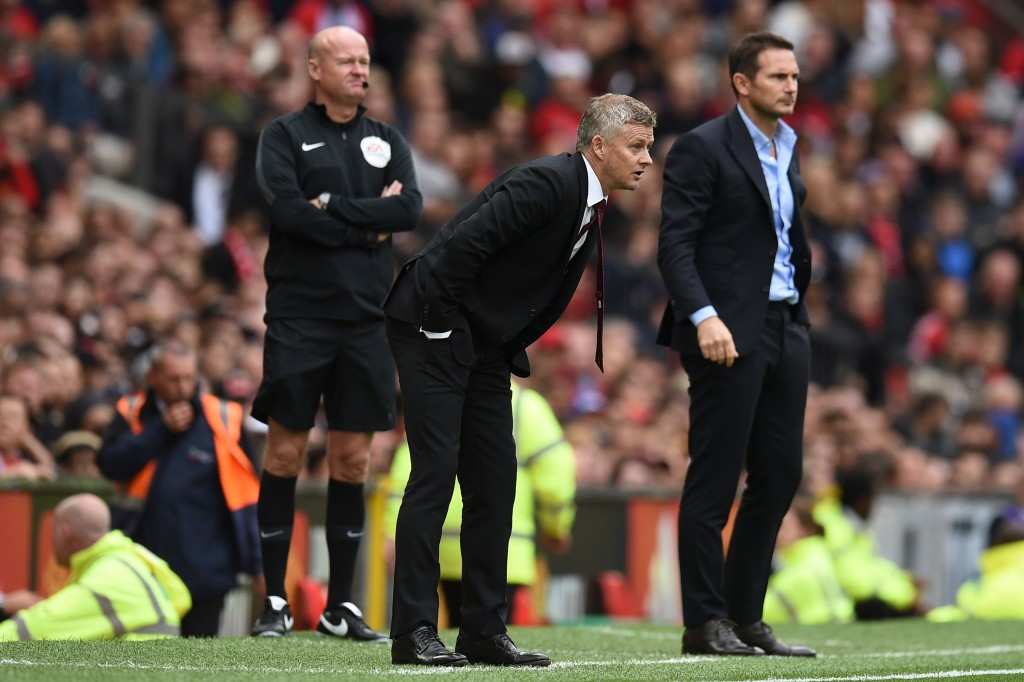 Another battle awaits Solskjaer and Lampard. (Photo by Oli Scarff/AFP/Getty Images)
