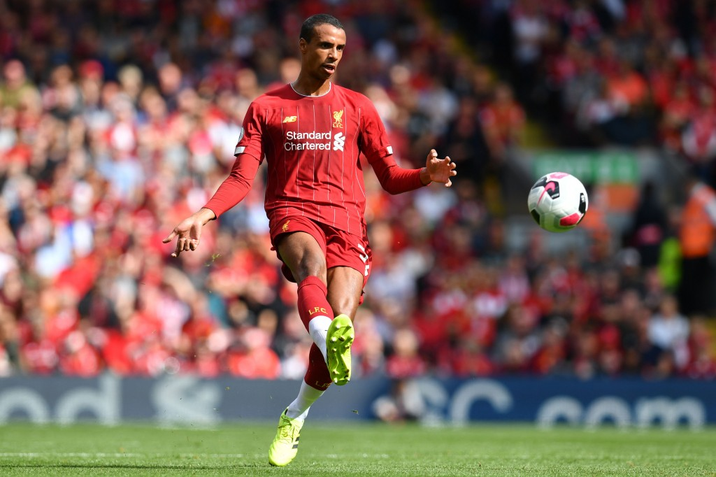 Joel Matip is a doubt for Wednesday's game (Photo by PAUL ELLIS/AFP/Getty Images)