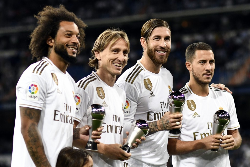 Zidane got the best out of Marcelo, Luka Modric and Sergio Ramos. (Photo by Oscar del Pozo/AFP/Getty Images)
