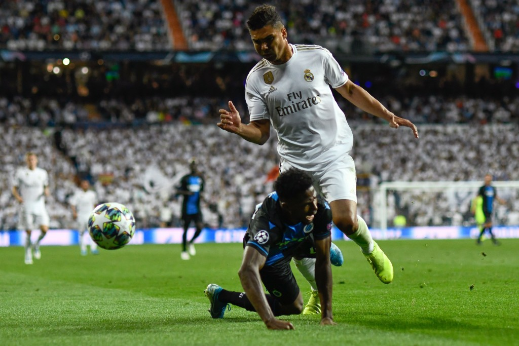 Casemiro scored the equalizer for Real Madrid (Photo by OSCAR DEL POZO/AFP/Getty Images)