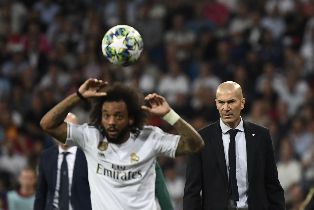 Zidane will be without the services of Marcelo (Photo by PIERRE-PHILIPPE MARCOU/AFP via Getty Images)