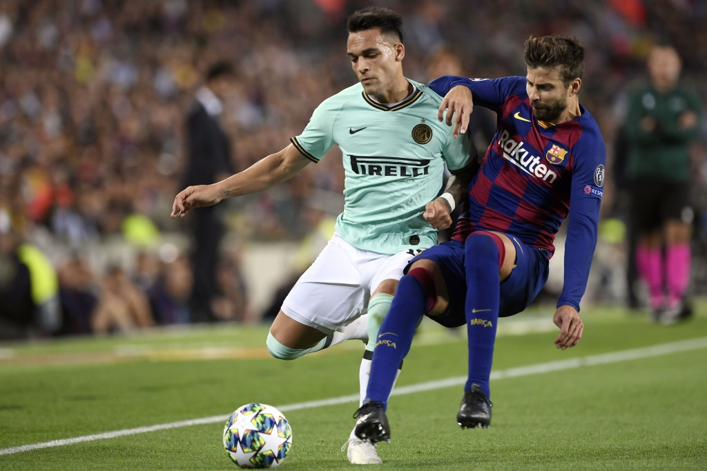 Could Lautaro Martinez be lining up alongside Gerard Pique soon? (Photo by Josep Lago/AFP via Getty Images)
