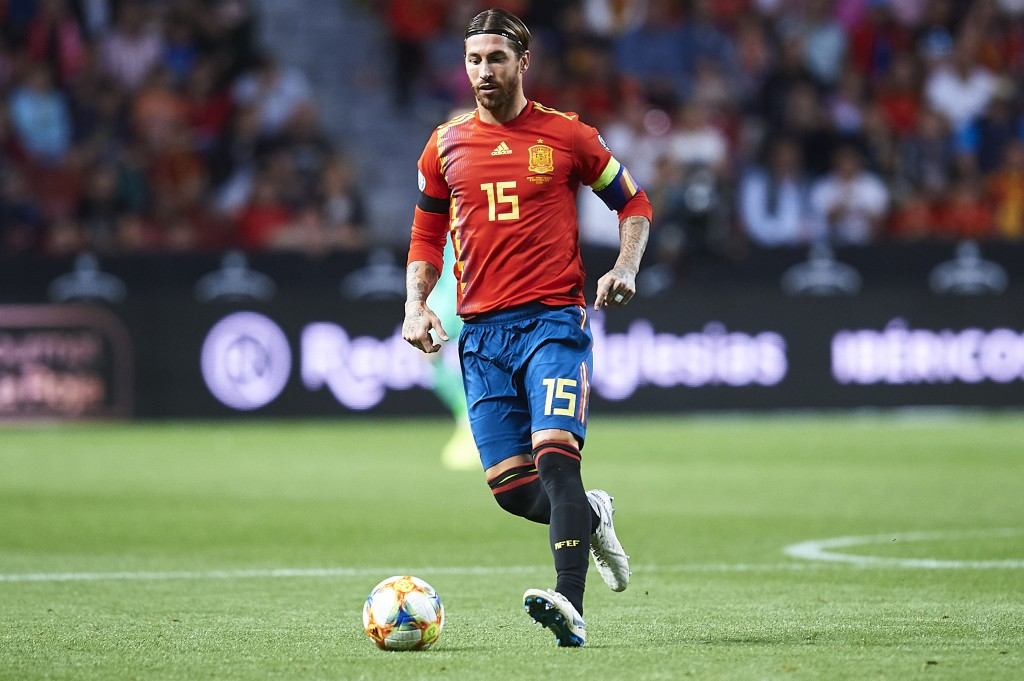 Spain captain Sergio Ramos is suspended (Photo by Juan Manuel Serrano Arce/Getty Images)