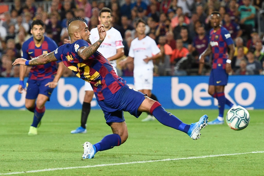 Vidal was on the scoresheet (Photo by JOSEP LAGO/AFP via Getty Images)