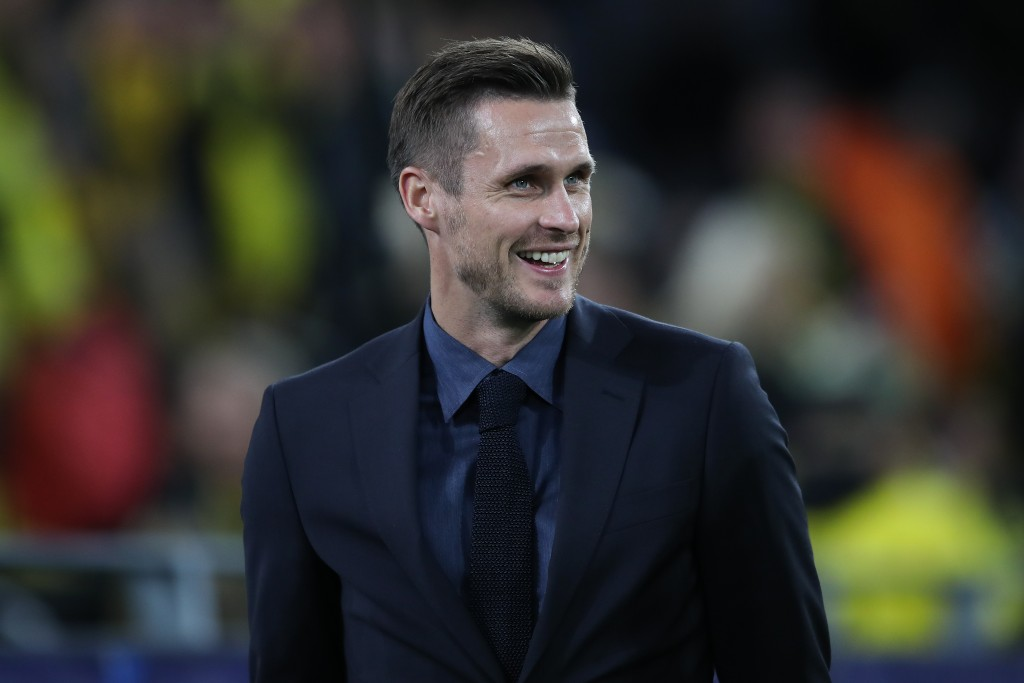 DORTMUND, GERMANY - SEPTEMBER 17: Sebastian Kehl, Manager of Borussia Dortmund looks on prior to the UEFA Champions League group F match between Borussia Dortmund and FC Barcelona at Signal Iduna Park on September 17, 2019 in Dortmund, Germany. (Photo by Christian Kaspar-Bartke/Bongarts/Getty Images)