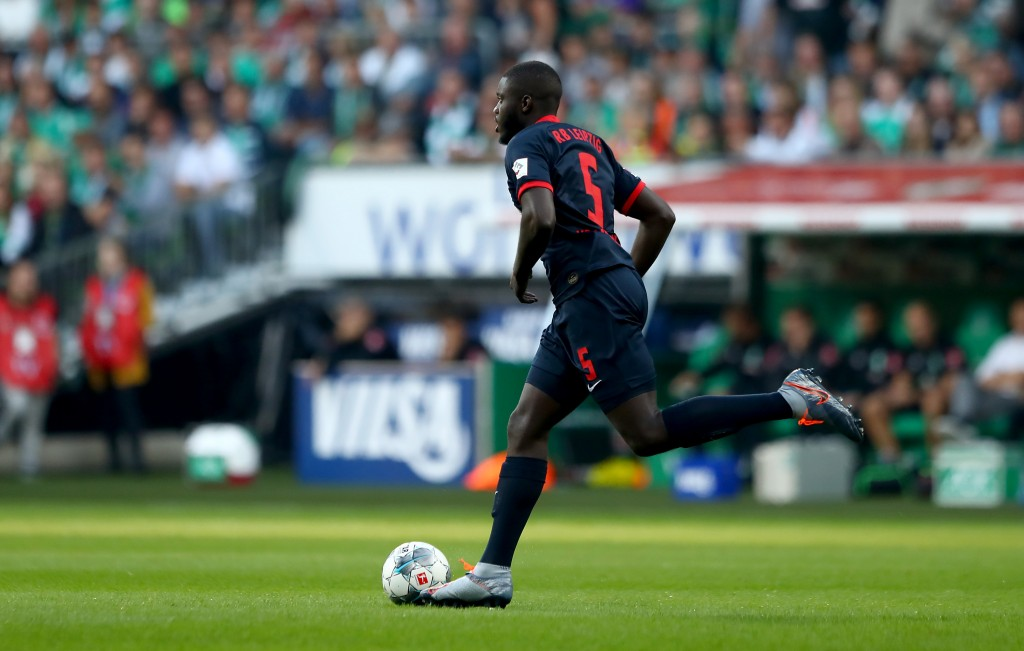 Manchester United and Arsenal are running hot on the heels of Upamecano. (Photo by Martin Rose/Bongarts/Getty Images)
