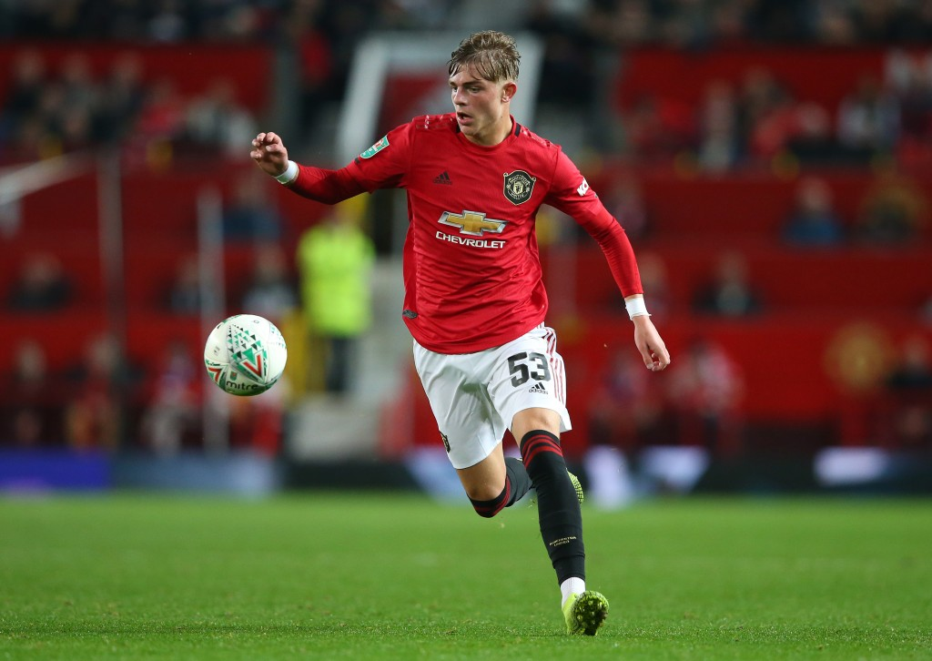 MANCHESTER, ENGLAND - SEPTEMBER 25: Brandon Williams of Manchester United during the Carabao Cup Third Round match between Manchester United and Rochdale at Old Trafford on September 25, 2019 in Manchester, England. (Photo by Alex Livesey/Getty Images)