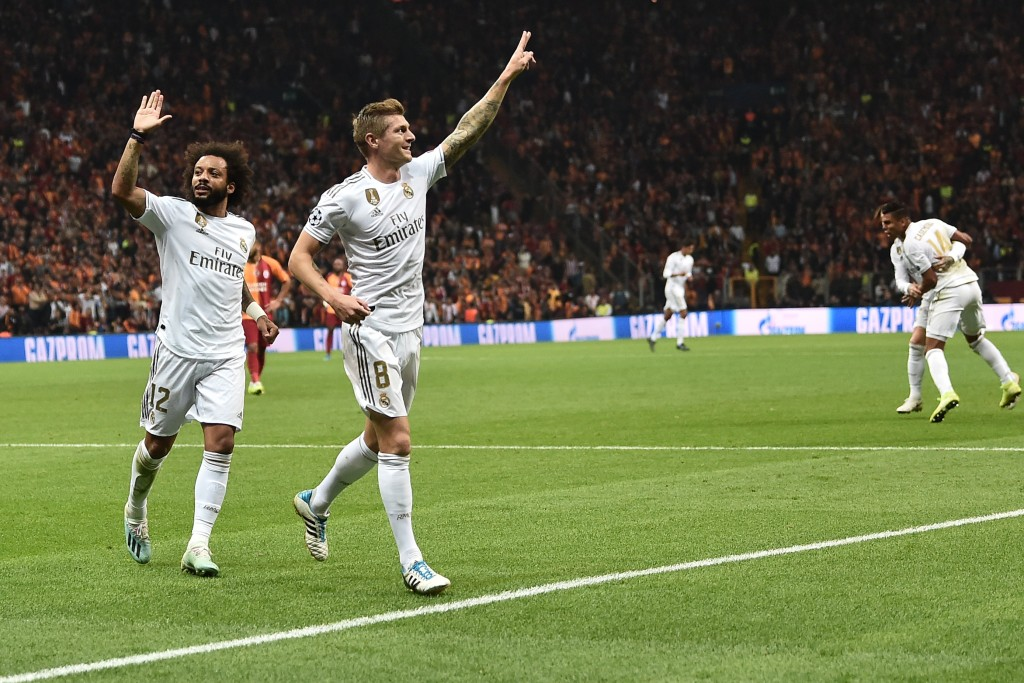 Kroos and Marcelo were superb against Galatasaray. (Photo by Ozan Kose/AFP via Getty Images)