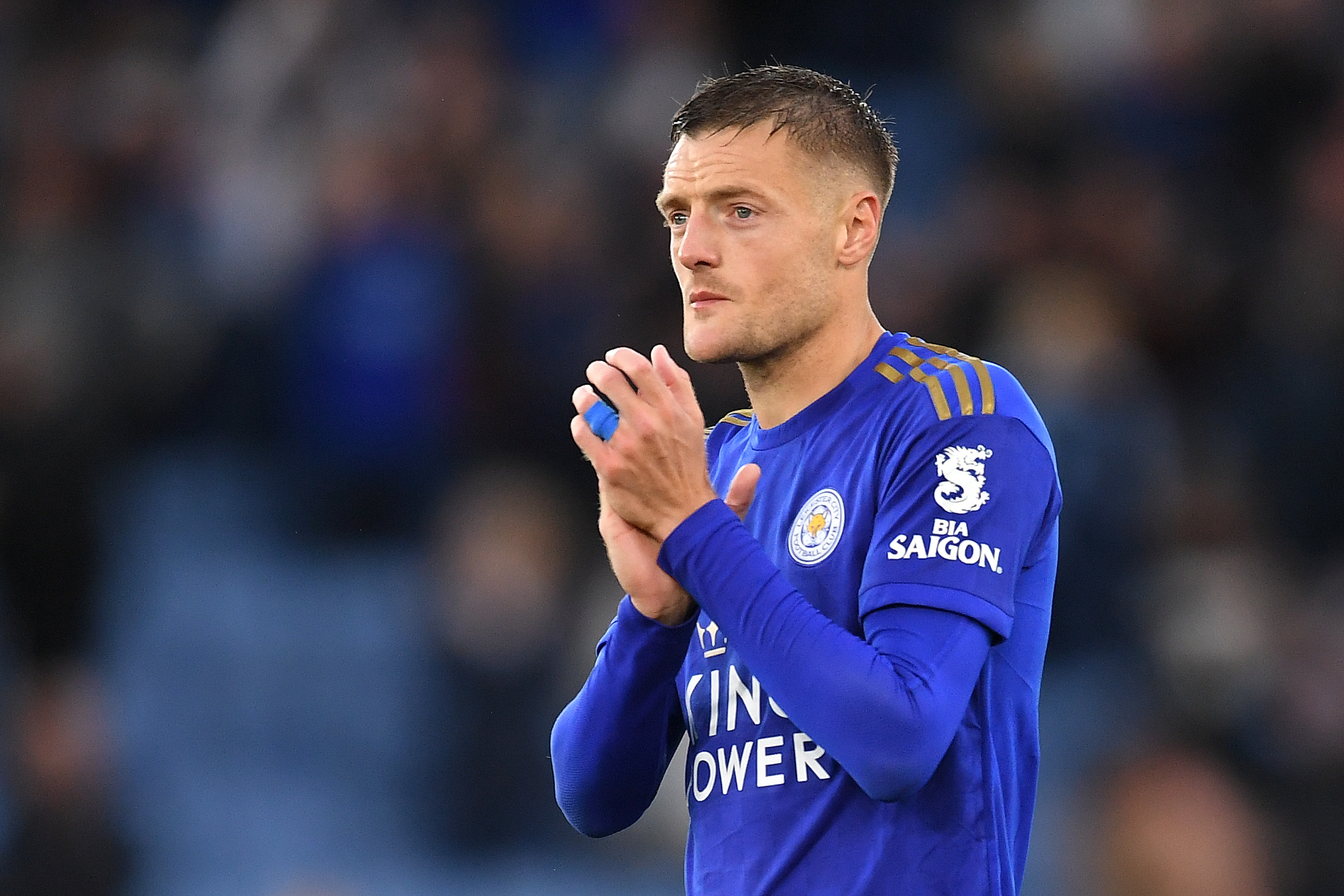 Manchester United urged to sign Jamie Vardy by Lee Sharpe. (Photo by Michael Regan/Getty Images)