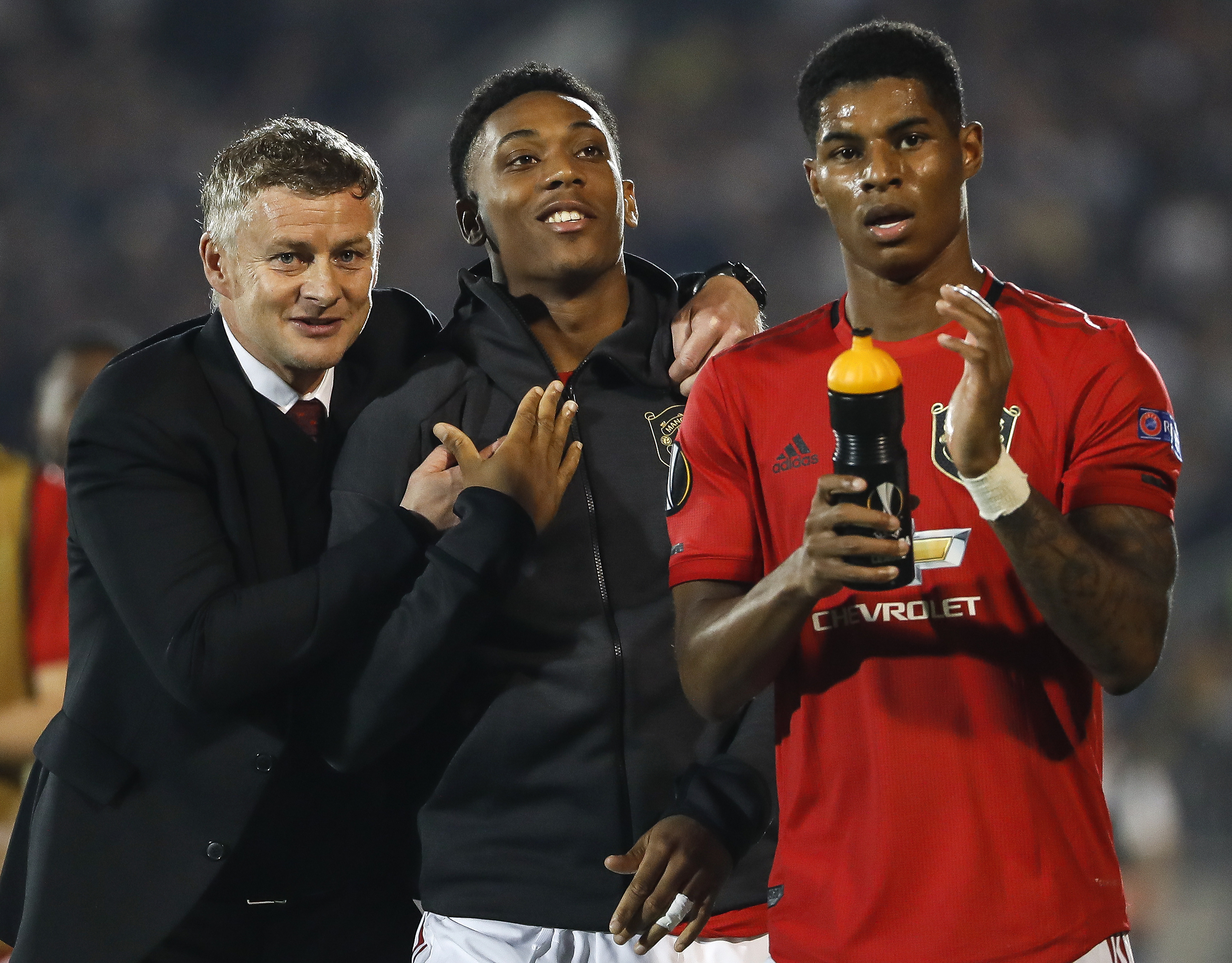 Manchester United's heroes (Photo by Srdjan Stevanovic/Getty Images)