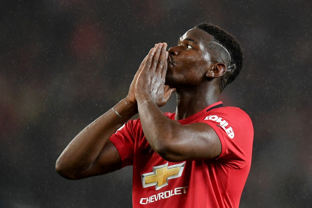 Pogba is sidelined again. (Photo by Michael Regan/Getty Images)
