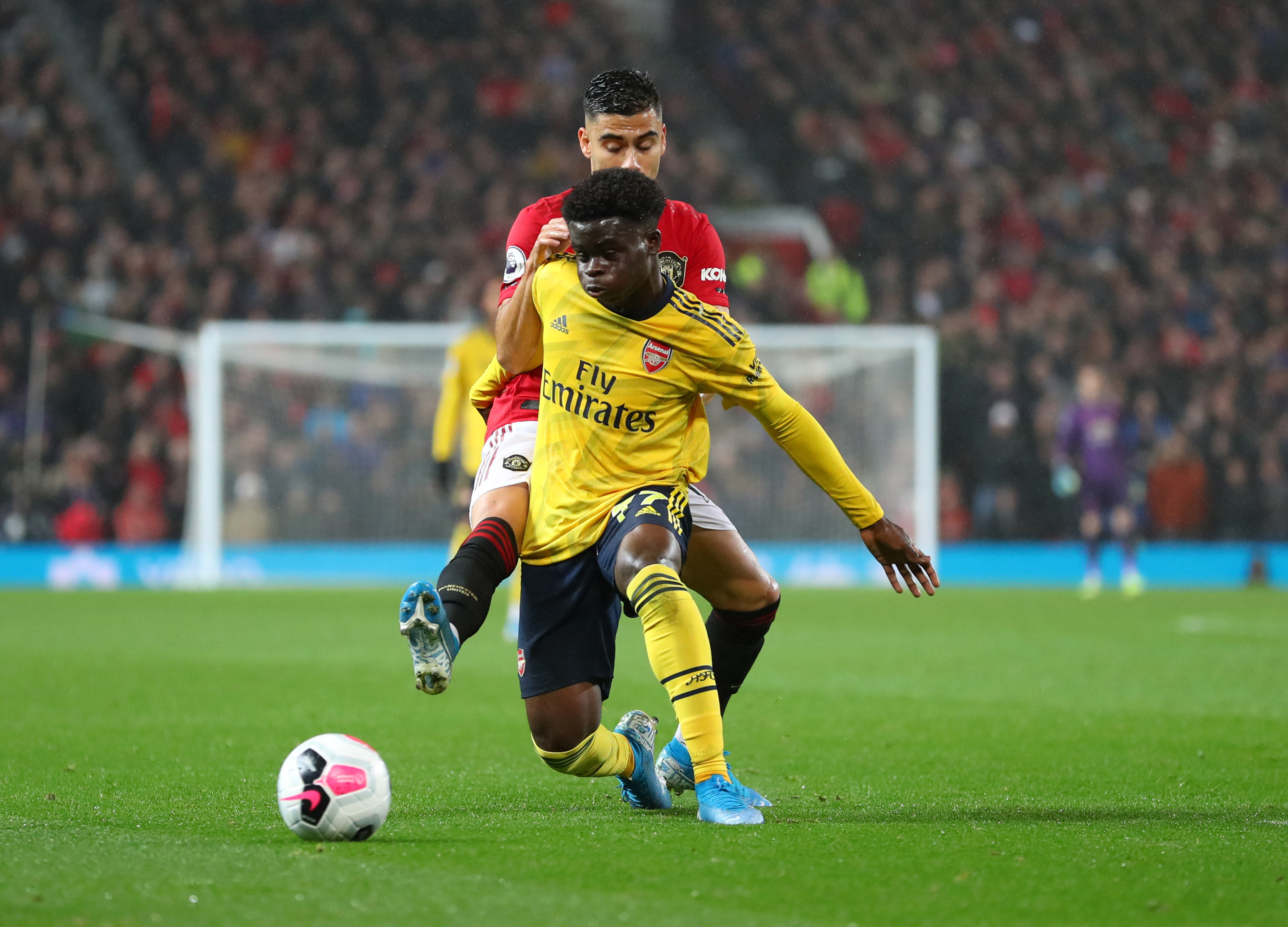 Saka proving to be a good fit in this Arsenal setup. (Photo courtesy: AFP/Getty)