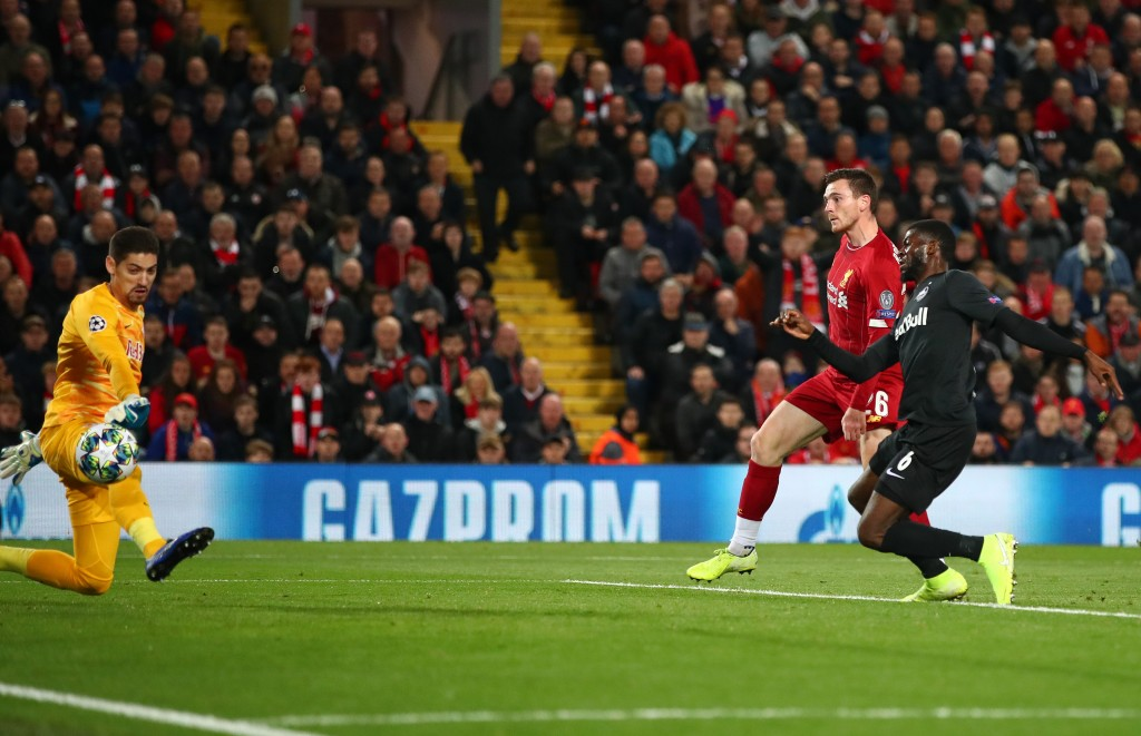 Robertson scored his second goal for Liverpool (Photo by Clive Brunskill/Getty Images)