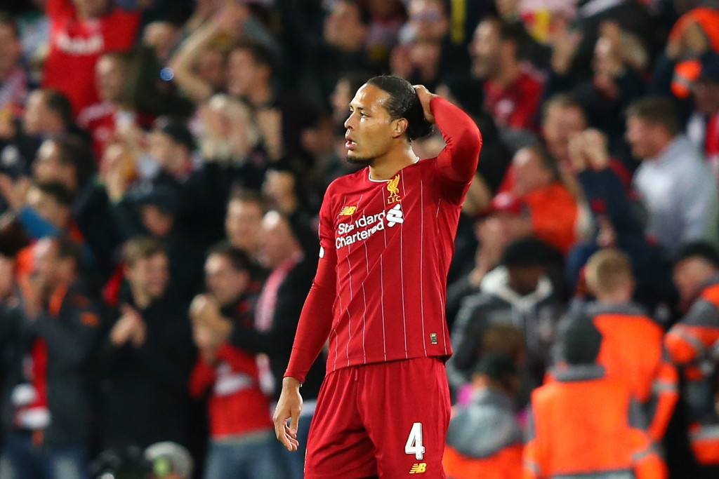 van Dijk uncharacteristically struggled on Wednesday (Photo by Alex Livesey/Getty Images)