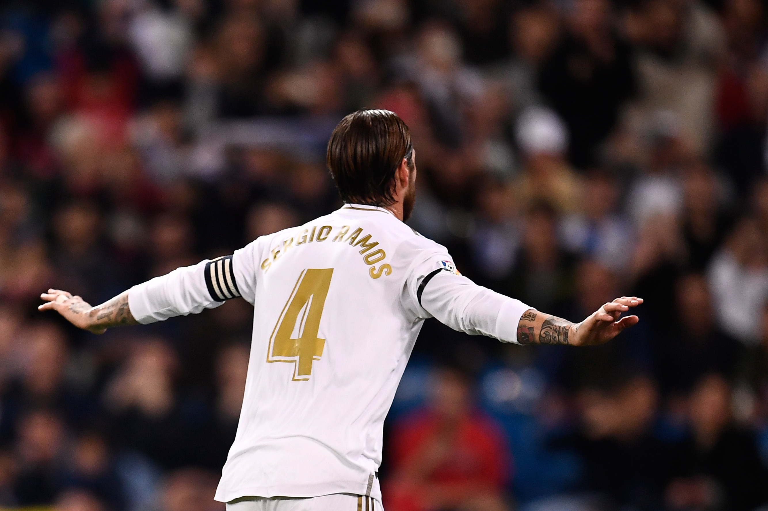 Ramos scored a penalty (Photo by OSCAR DEL POZO/AFP via Getty Images)