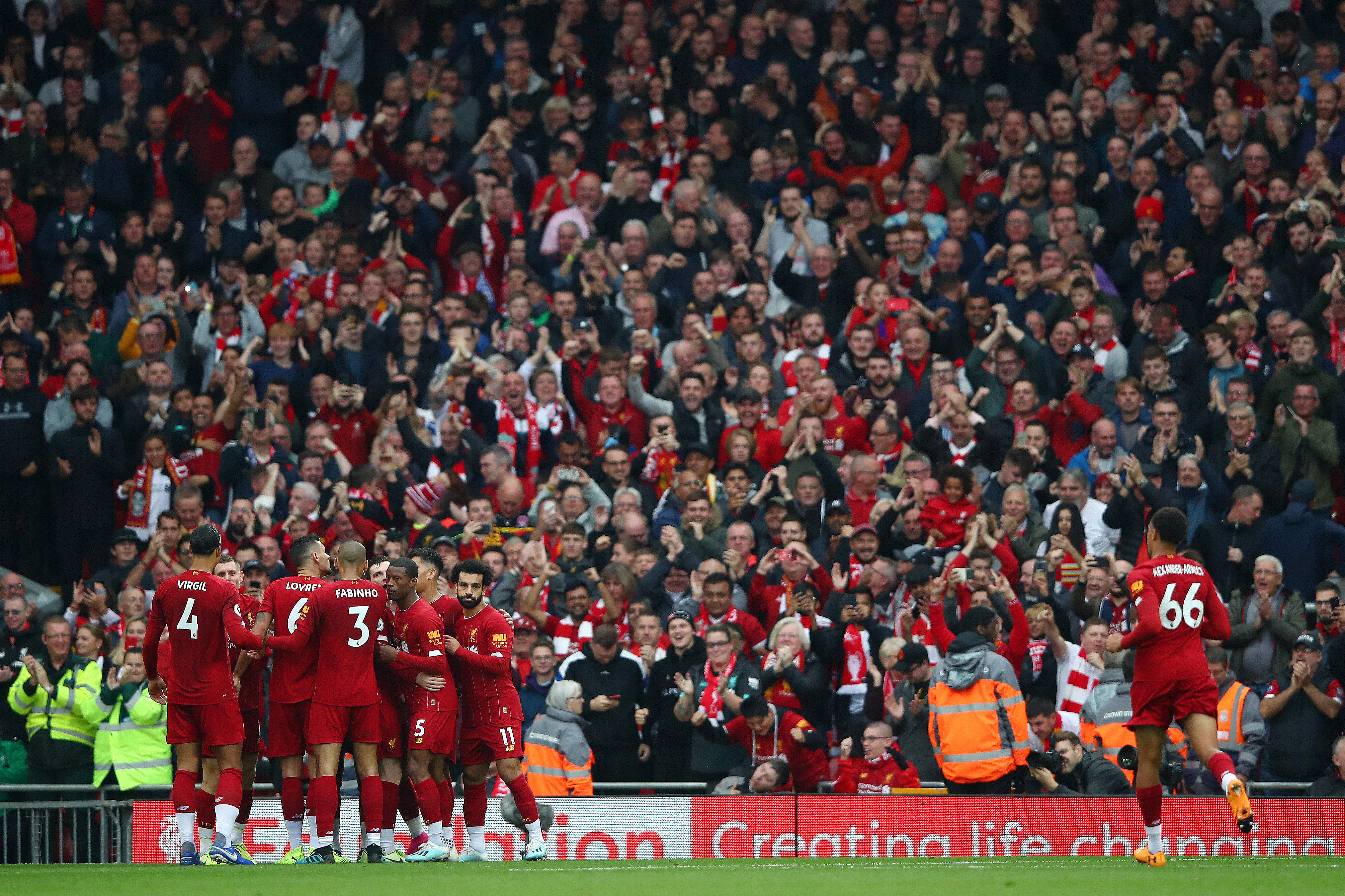 The Enfield rings with the sound YNWA. (Photo by Clive Brunskill/Getty Images)