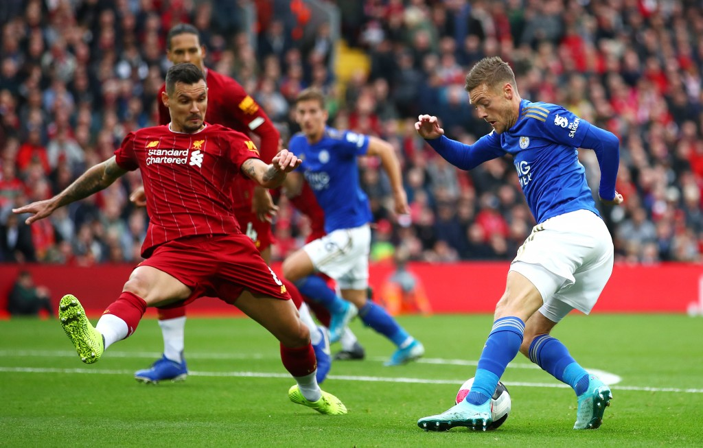 Lovren kept a lid on Vardy. (Photo by Clive Brunskill/Getty Images)