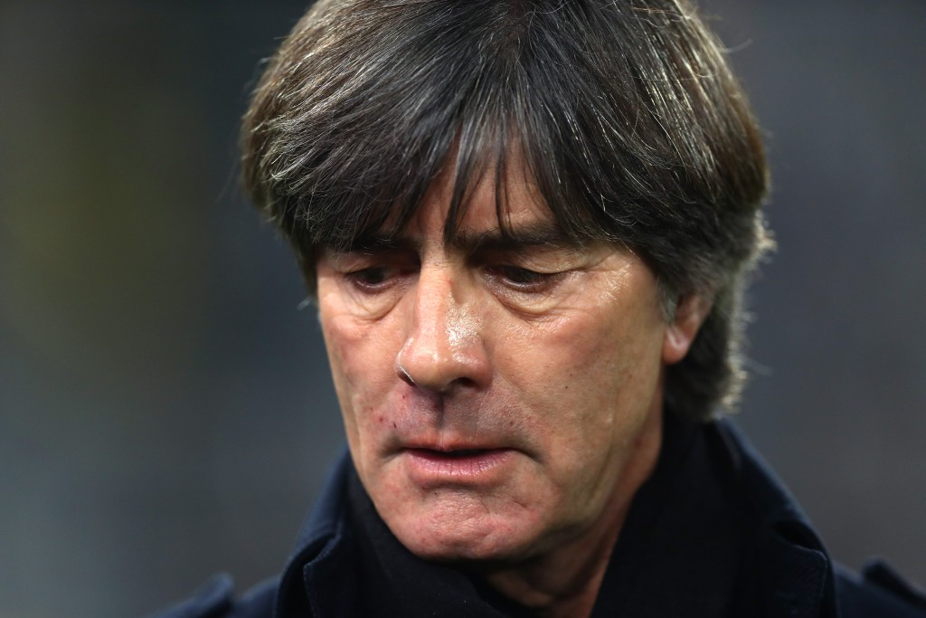 DORTMUND, GERMANY - OCTOBER 09: Joachim Loew, Manager of Germany looks on prior to the International Friendly match between Germany and Argentina at Signal Iduna Park on October 09, 2019 in Dortmund, Germany. (Photo by Lars Baron/Bongarts/Getty Images)