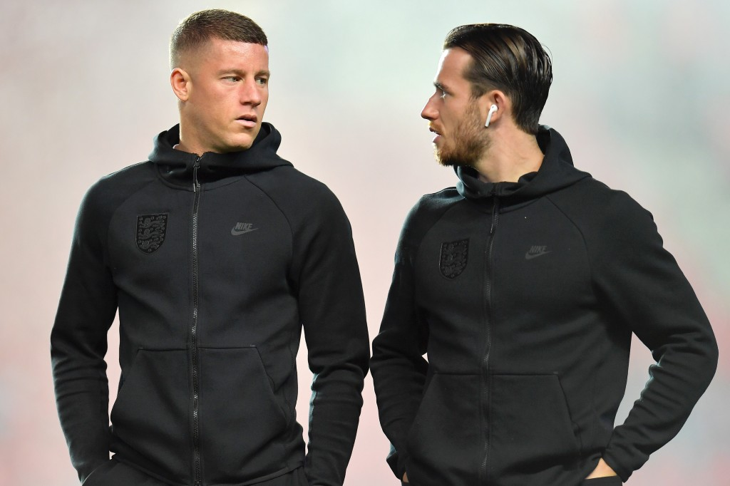 Agent Barkley with potential recruit Chilwell. (Picture Courtesy - AFP/Getty Images)