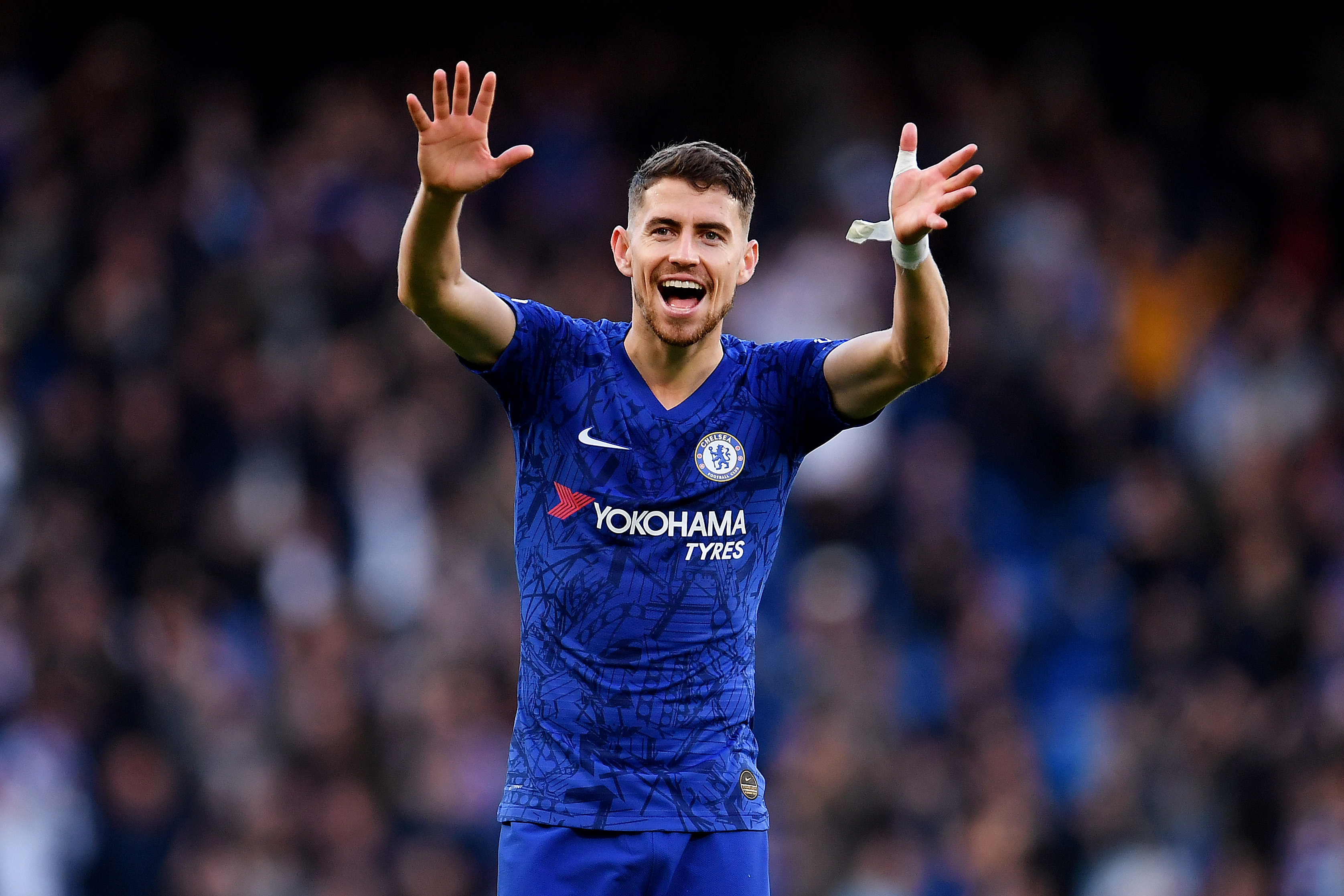 Juventus wants Chelsea to include Jorginho in any deal for Matthijs de Ligt. (Photo by Justin Setterfield/Getty Images)