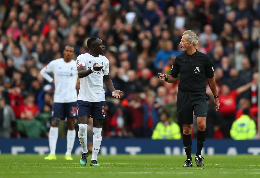 Mane had a goal ruled out for handball (Photo by Catherine Ivill/Getty Images)