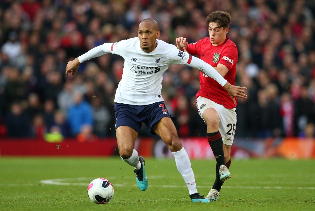 Fabinho was well below his best (Photo by Alex Livesey/Getty Images)