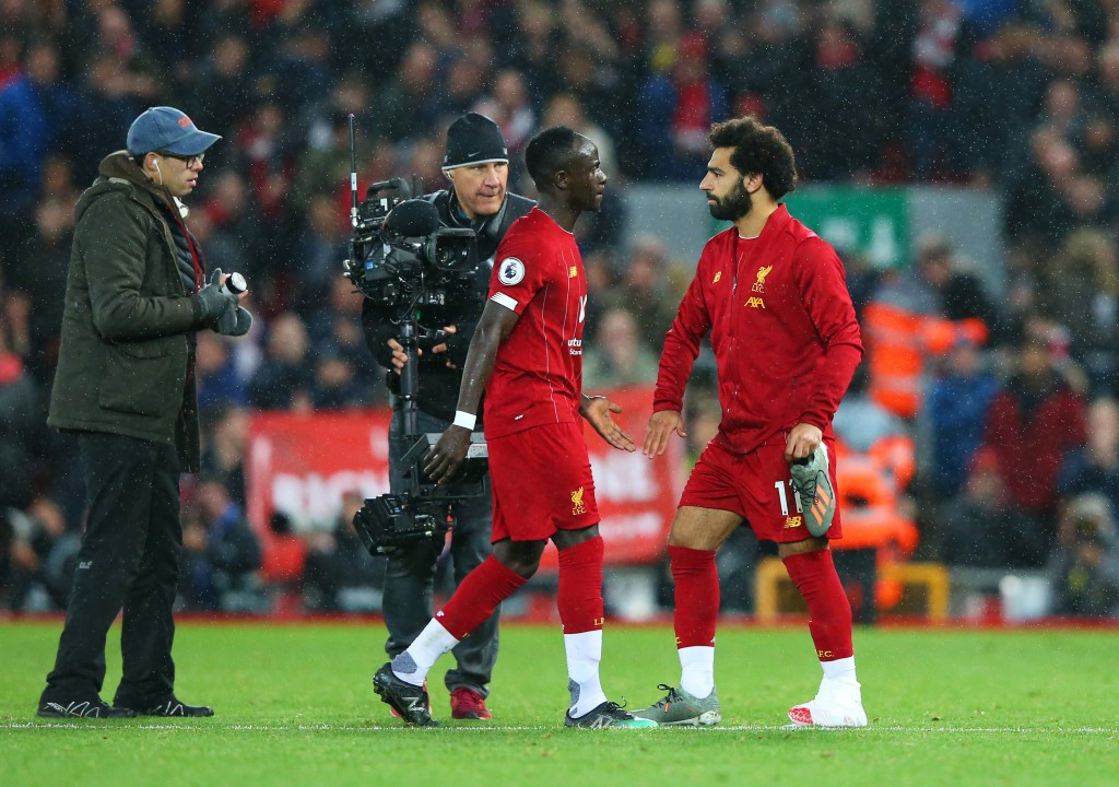 Mane facilitated Salah's winner. (Photo by Alex Livesey/Getty Images)