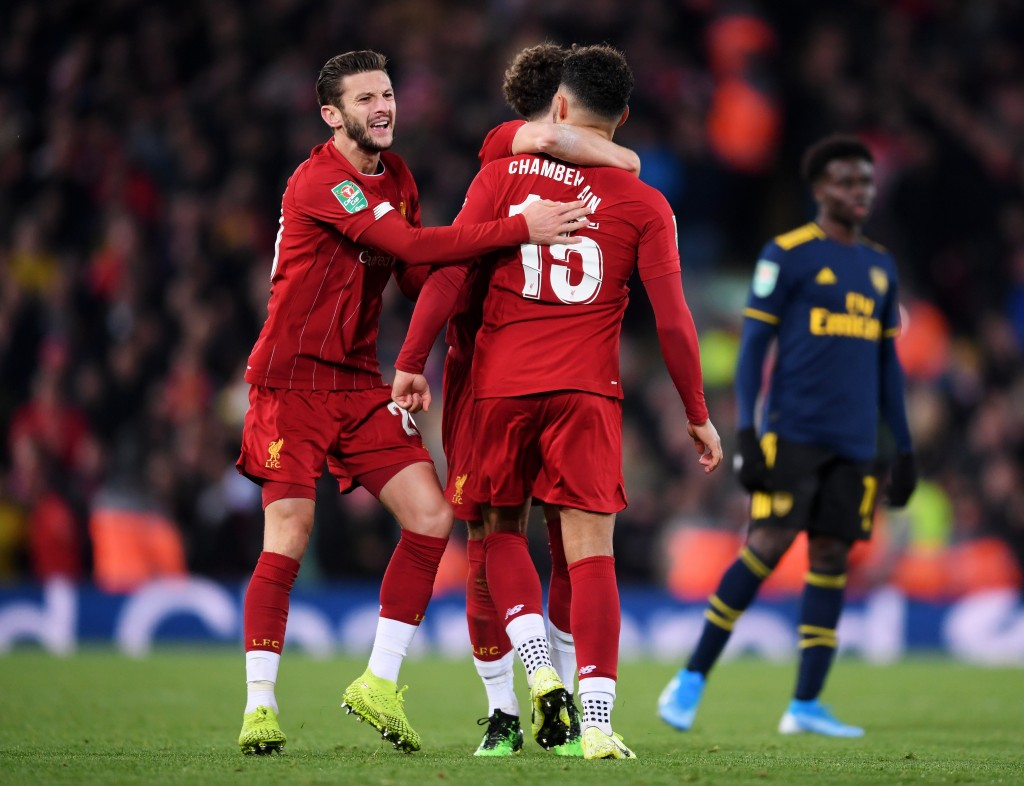 Oxlade-Chamberlain did his bit, but Lallana could have done better. (Photo by Laurence Griffiths/Getty Images)