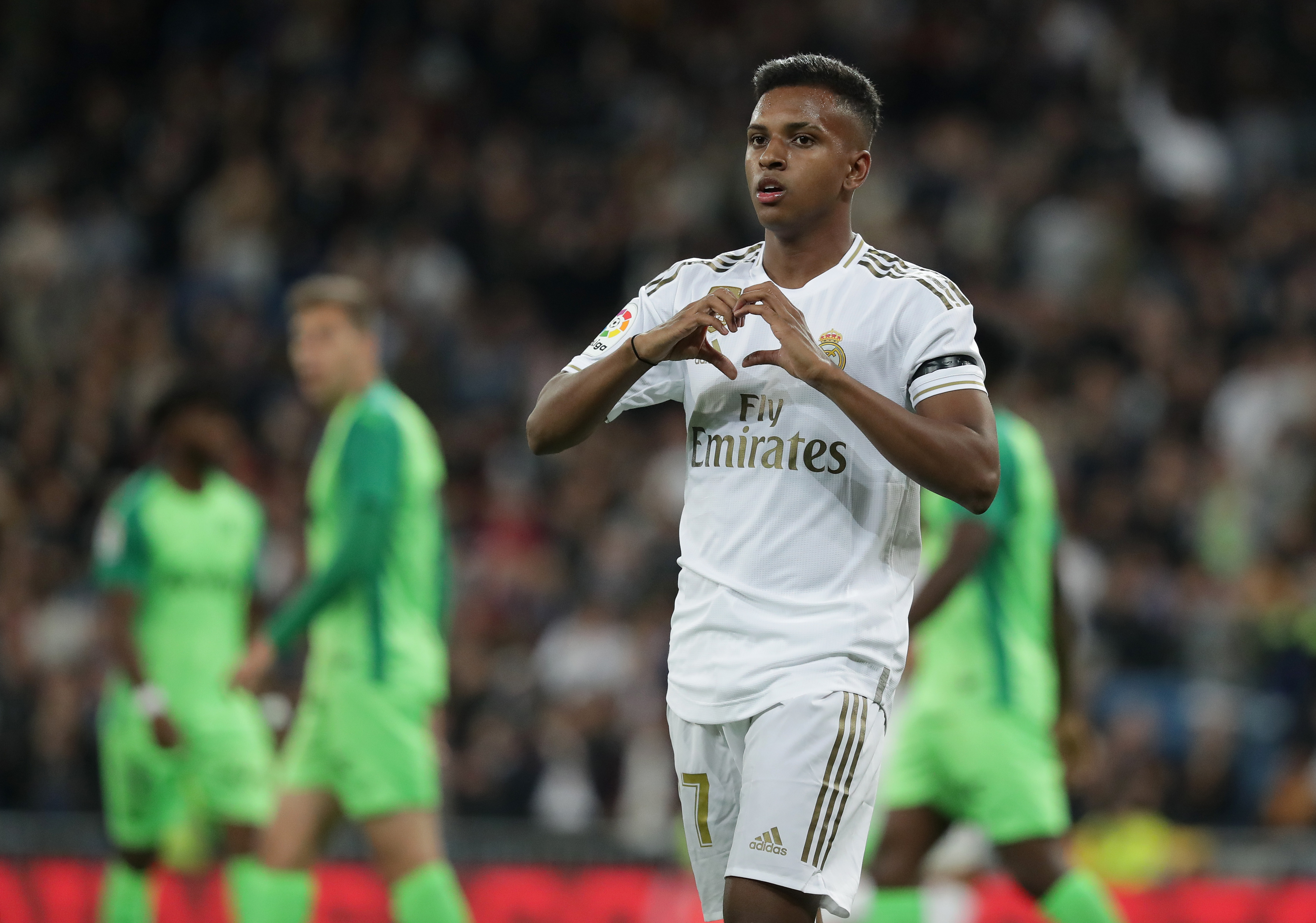 Rodrygo on his way out? (Photo by Gonzalo Arroyo Moreno/Getty Images)