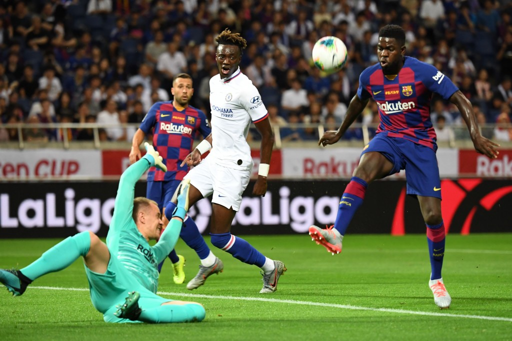 Could Umtiti be headed to Lyon soon? (Photo by Toshifumi Kitamura/AFP via Getty Images)