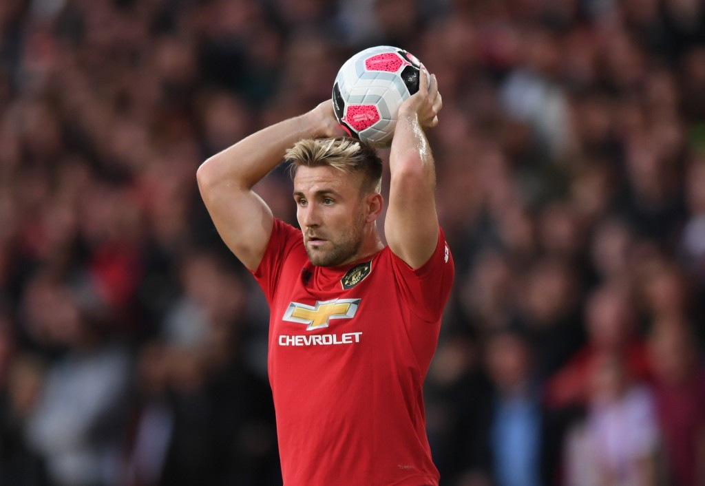 Luke Shaw will play no part for Manchester United in the remainder of their UEFA Europa League campaign. (Photo by Shaun Botterill/Getty Images)