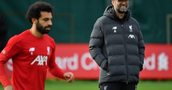 Mohamed Salah is set to return to the Liverpool starting lineup against Atalanta. (Photo by Paul Ellis/AFP via Getty Images)