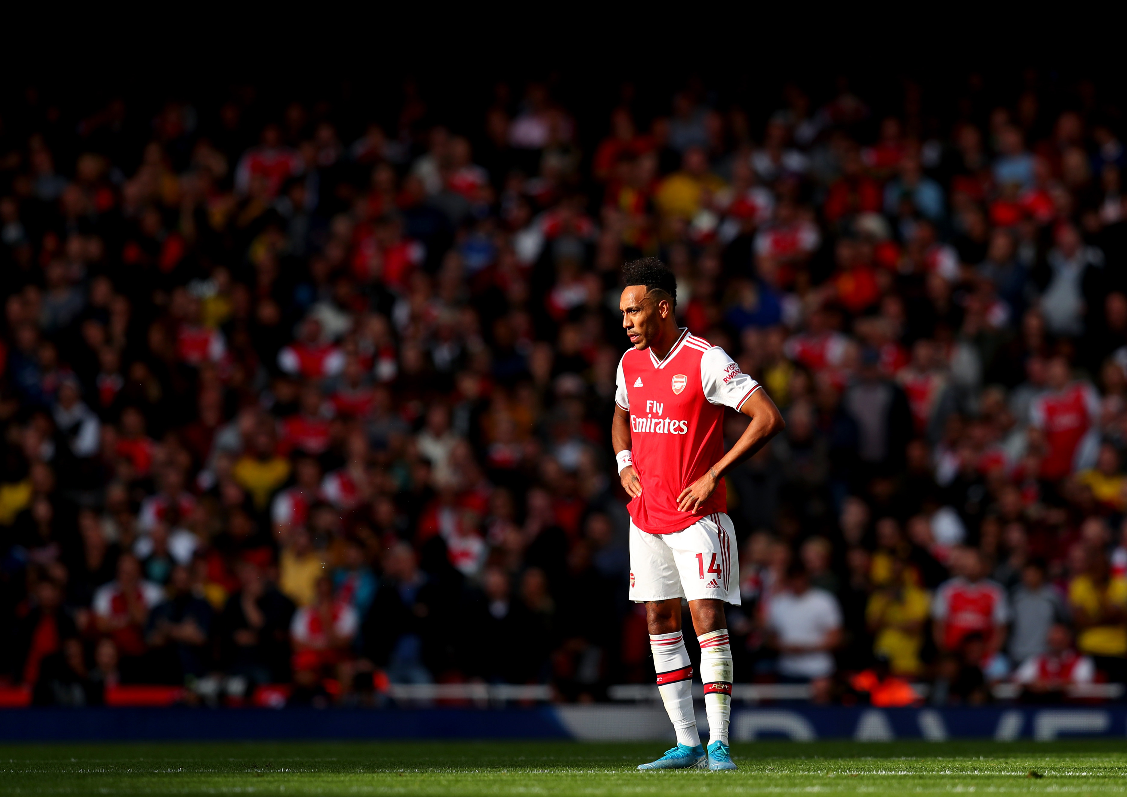 Aubameyang's 2020/21 season was a major letdown. (Picture Courtesy - AFP/Getty Images)