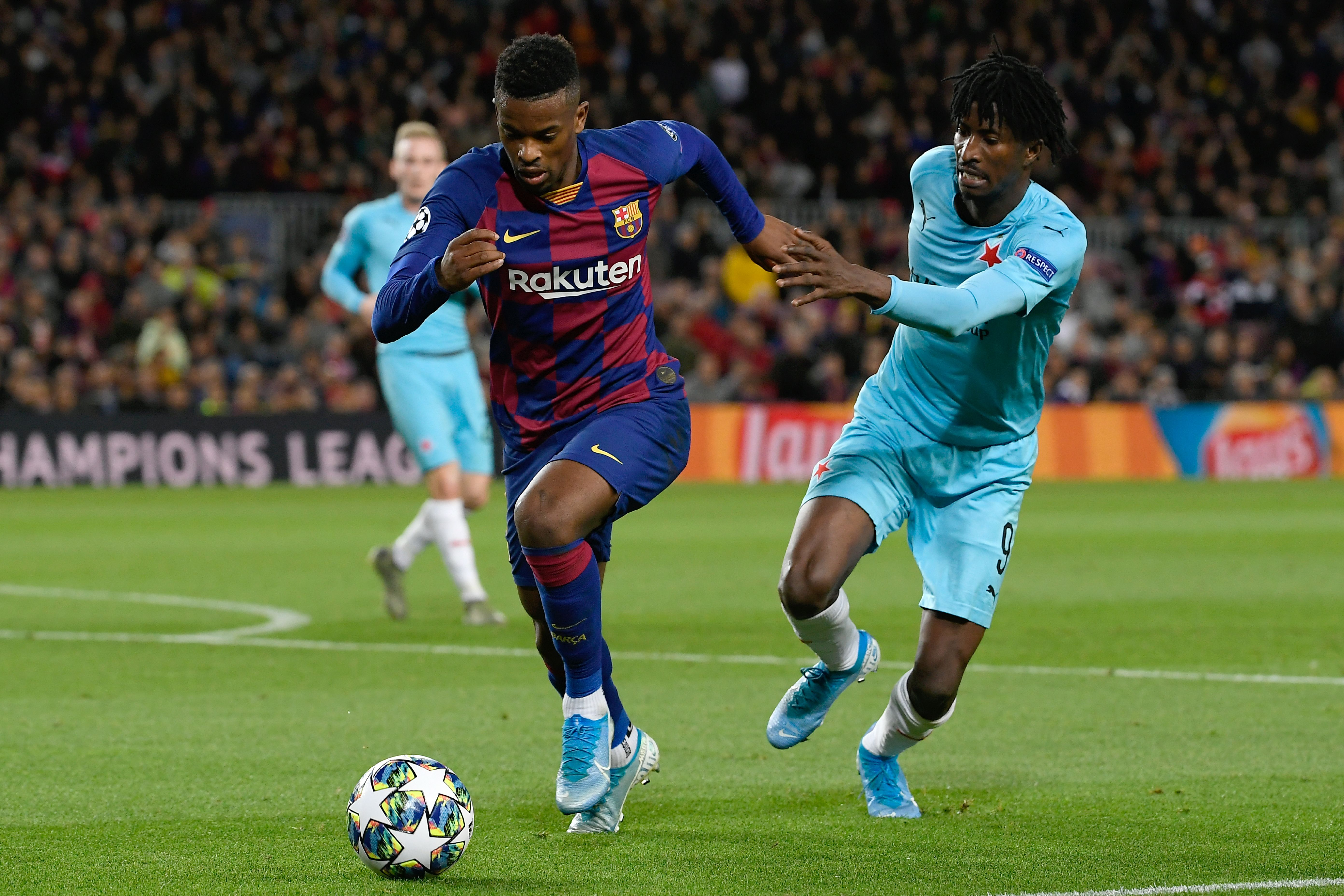 Semedo was given a tough time by Peter Olayinka (Photo by LLUIS GENE/AFP via Getty Images)
