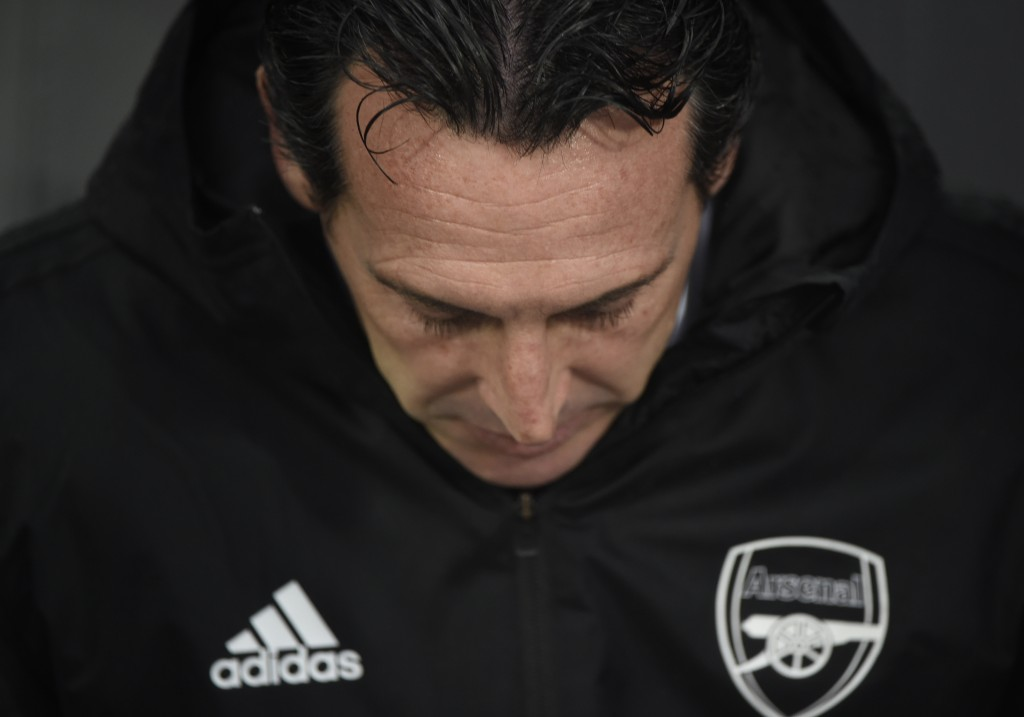 Unai Emery is under huge pressure at Arsenal