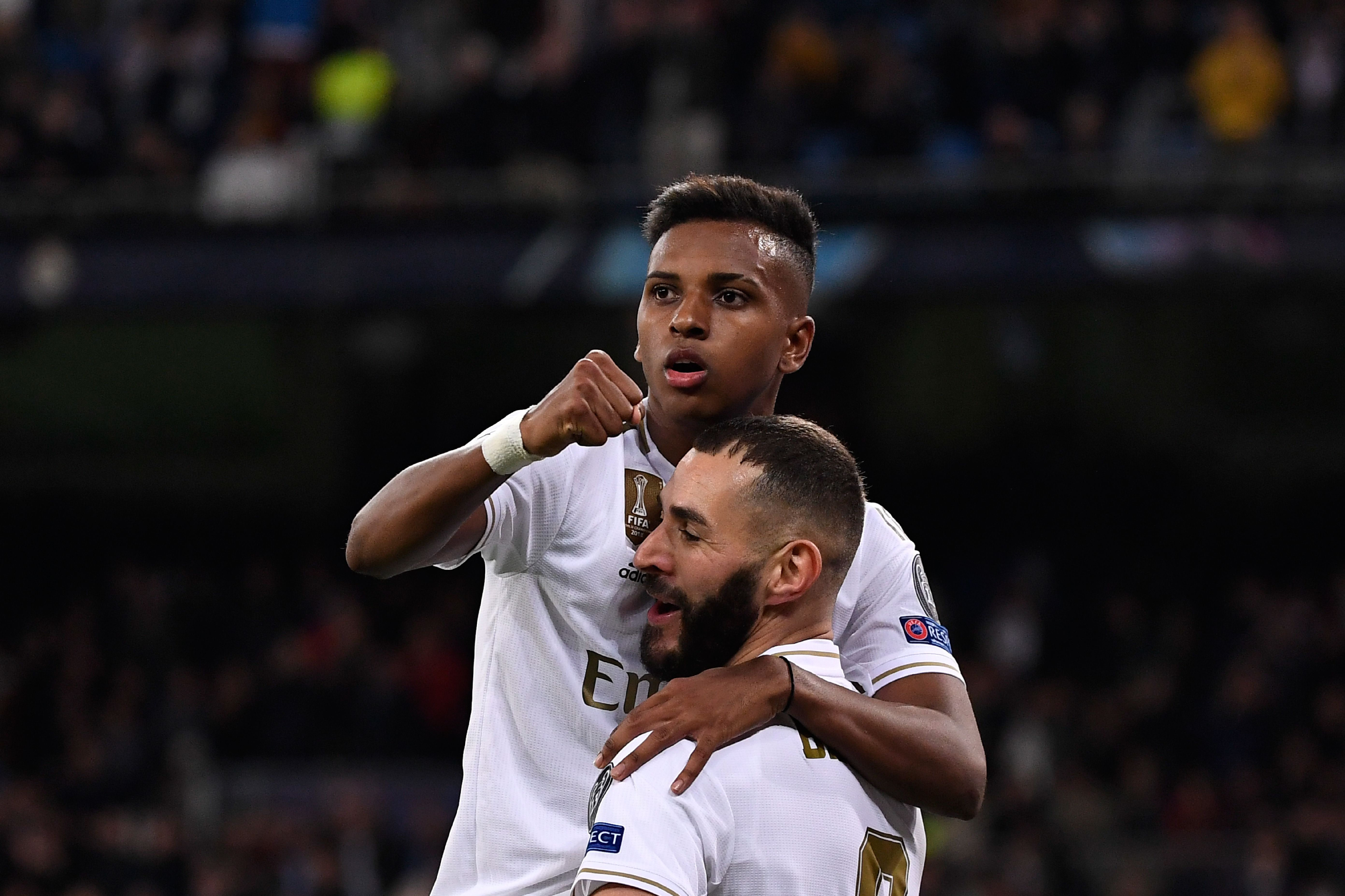 Rodrygo and Benzema missed good chances (Photo by Pierre-Philippe Marcou/AFP via Getty Images)