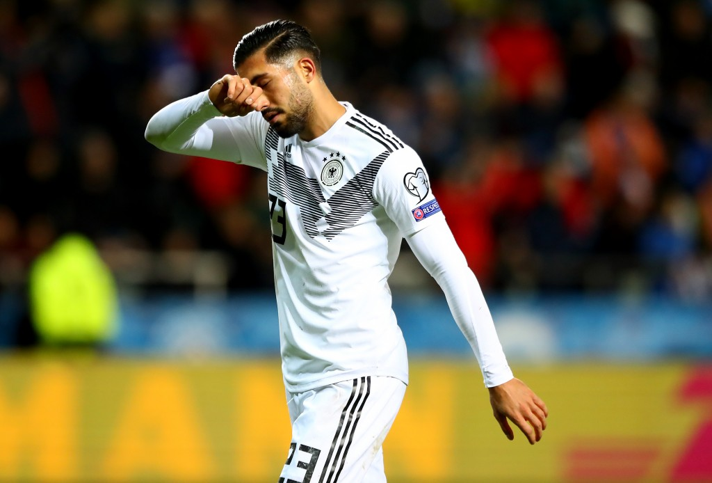 Emre Can is suspended for the game against Belarus. (Photo by Martin Rose/Bongarts/Getty Images)