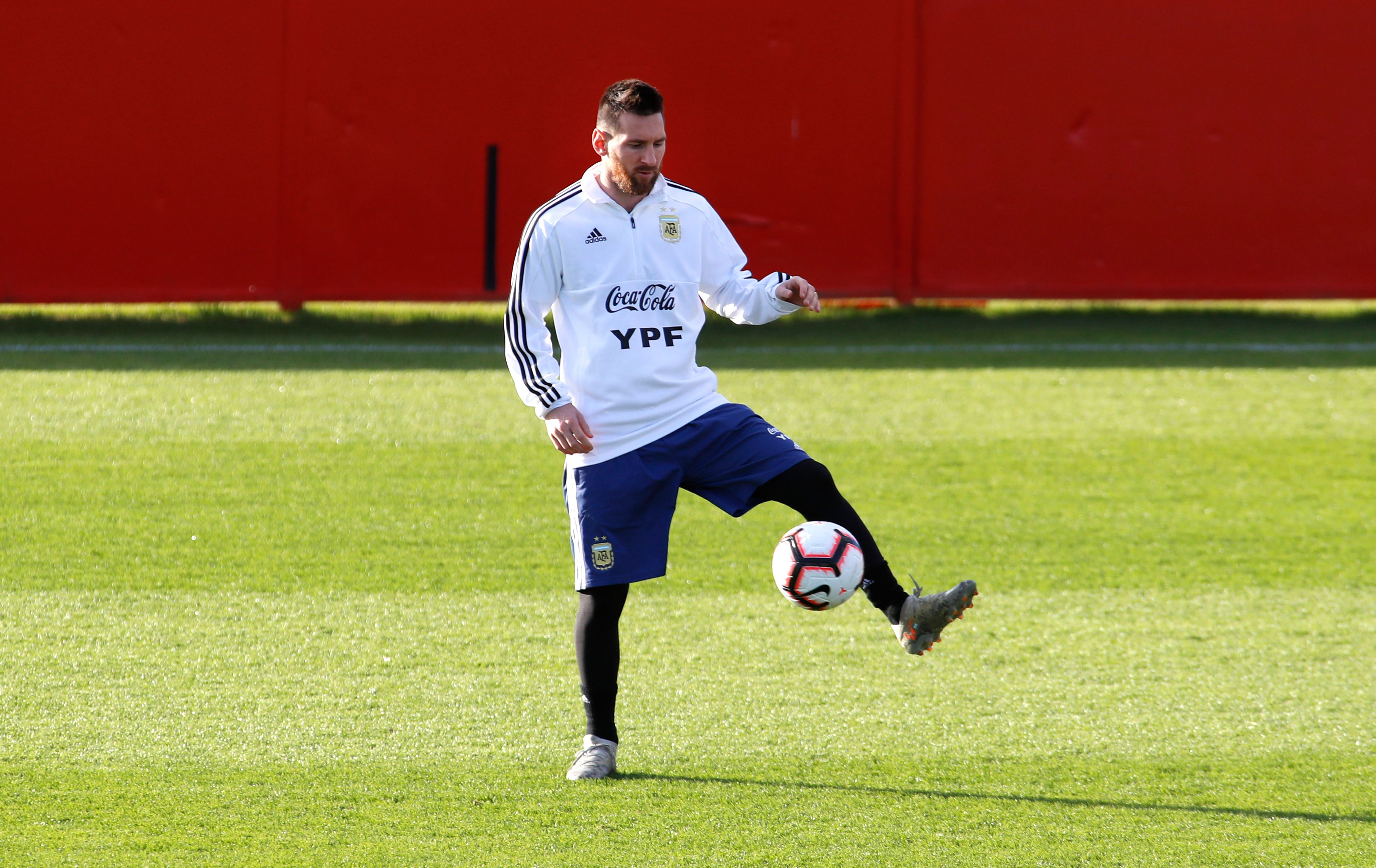Messi is back on the international football stage after a three-month ban (Photo by JAIME REINA/AFP via Getty Images)