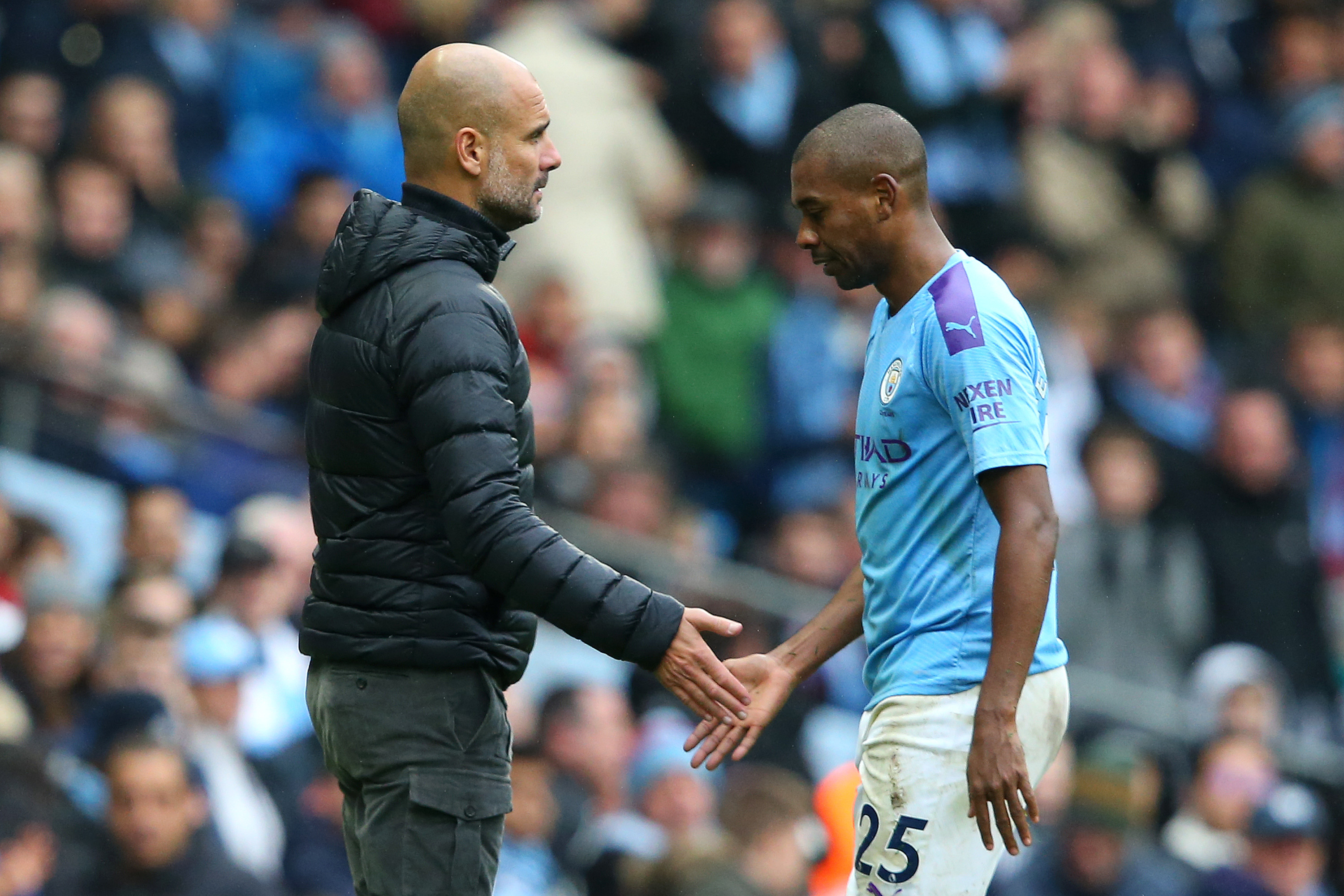 Pep Guardiola will once again have to cope with the absence of Fernandinho (Photo by Alex Livesey/Getty Images)
