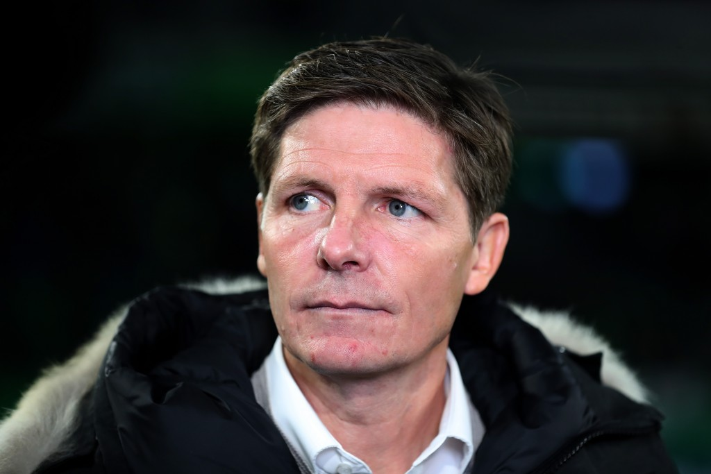 WOLFSBURG, GERMANY - OCTOBER 30: Oliver Glasner, Head Coach of VfL Wolfsburg looks on prior to the DFB Cup second round match between VfL Wolfsburg and RB Leipzig at Volkswagen Arena on October 30, 2019 in Wolfsburg, Germany. (Photo by Boris Streubel/Bongarts/Getty Images)