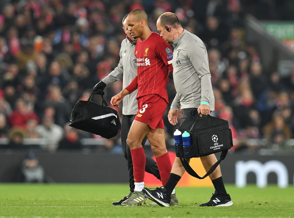 Fabinho, who is suspended for the visit of Brighton, is set to be sidelined for the foreseeable future. (Photo by Paul Ellis/AFP via Getty Images)