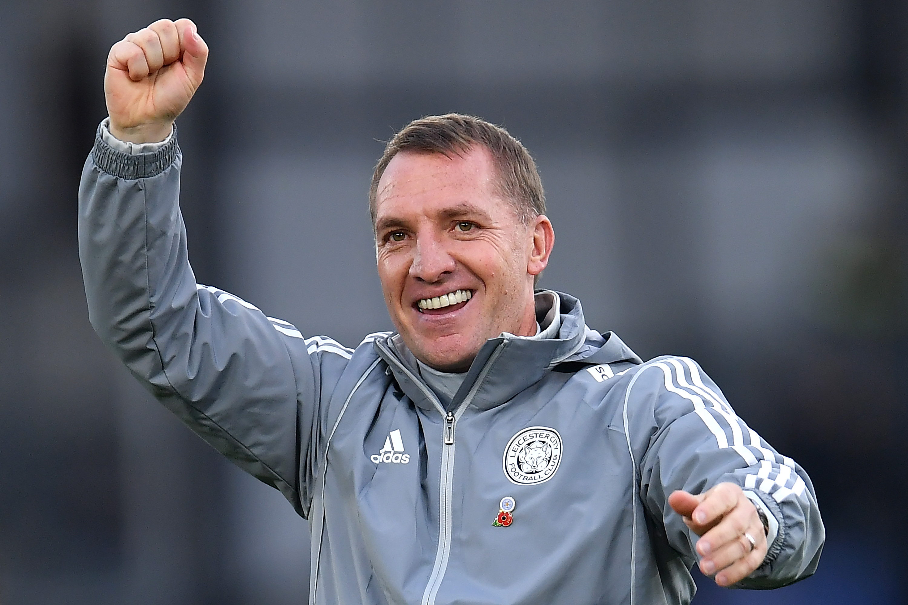 Brendan Rodgers has done well at Leicester since replacing Claude Puel (Photo by Justin Setterfield/Getty Images)