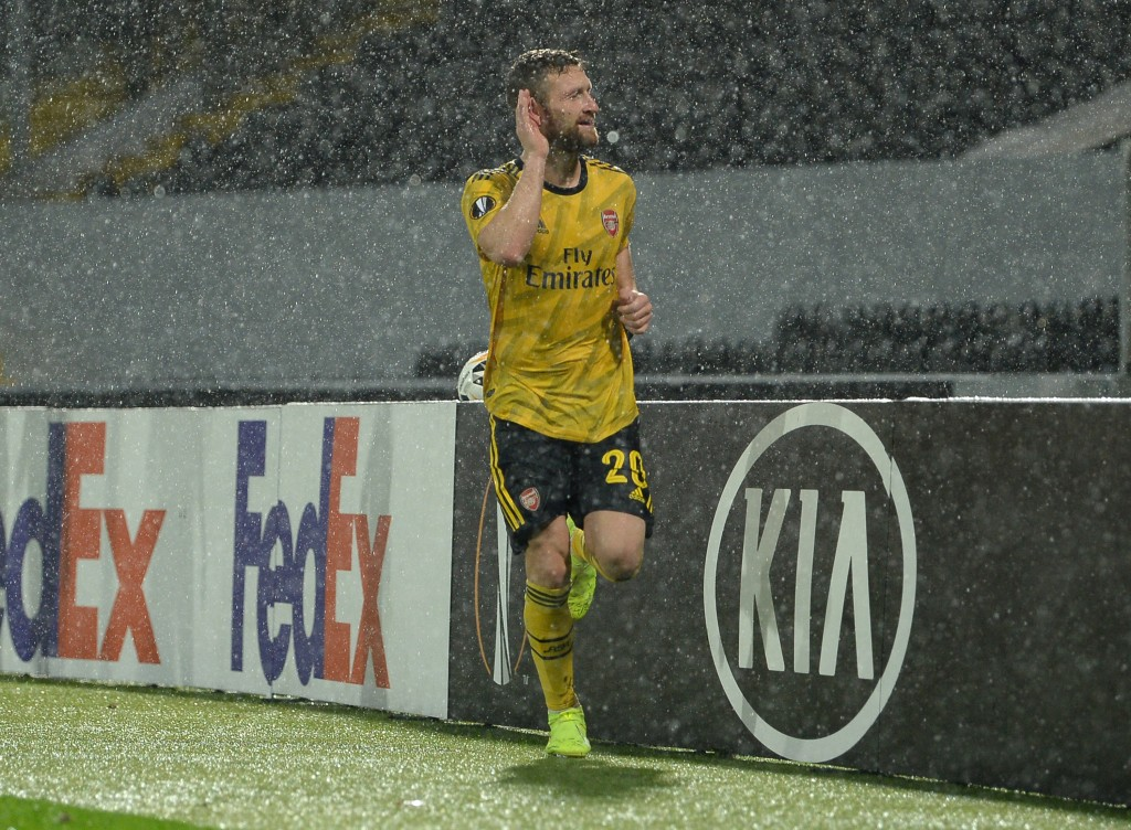 Mustafi scored for Arsenal (Photo by Octavio Passos/Getty Images)