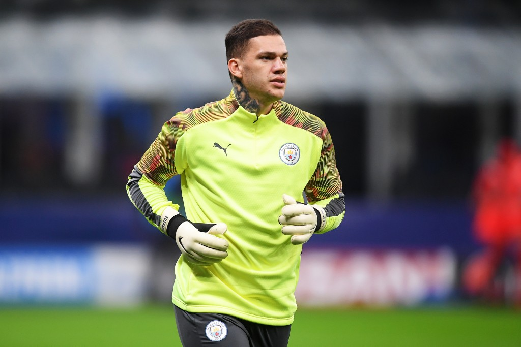 Ederson Moraes is one of eight Manchester City players missing against Birmingham. (Photo by Michael Regan/Getty Images)