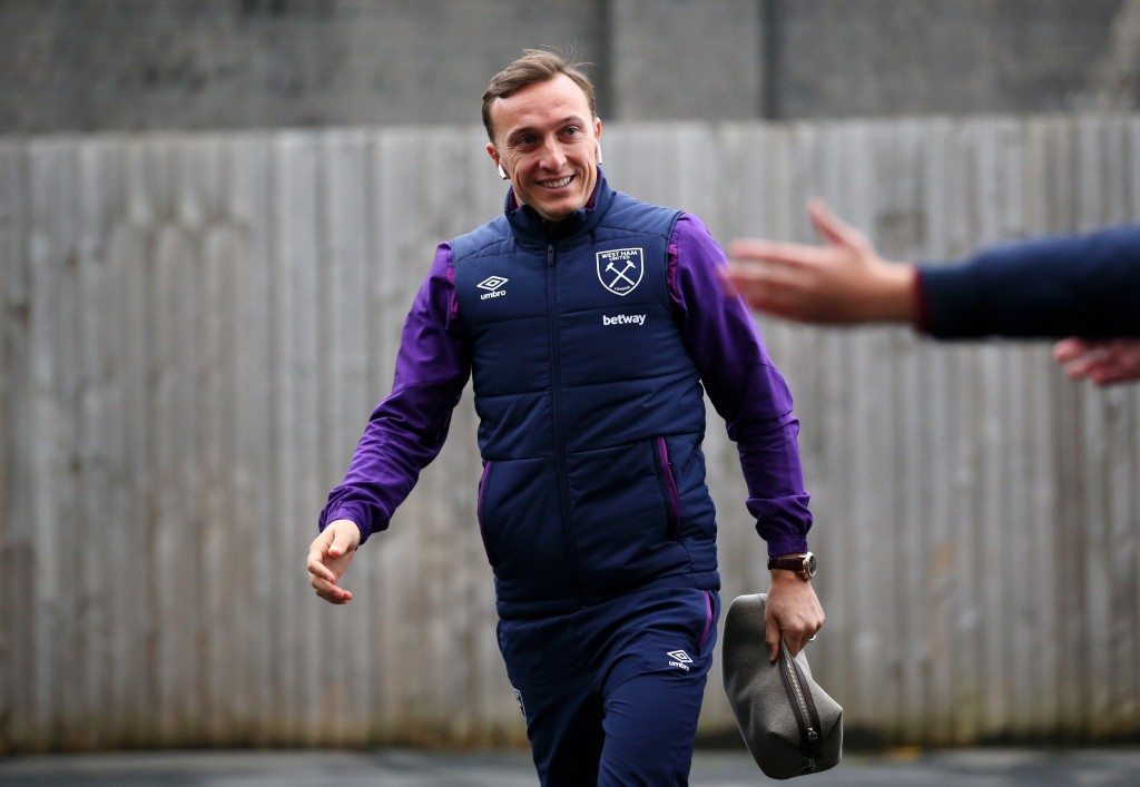 Mark Noble is available for the visit of Chelsea. (Photo by Alex Livesey/Getty Images)